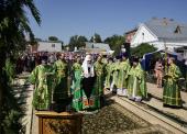 Святейший Патриарх Кирилл совершил Божественную литургию в Свято-Троицком монастыре г. Мурома