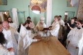 Митрополит Ювеналий совершил великое освящение храма в честь иконы Божией Матери «Спорительница хлебов» на территории Щелковского хлебозавода