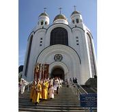 В новом калининградском храме святых Петра и Февронии в День семьи, любви и верности был совершен молебен
