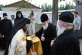 Святейший Патриарх Кирилл посетил скит во имя Всех святых Спасо-Преображенского Валаамского монастыря