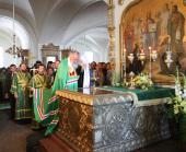 В канун дня памяти преподобных Сергия и Германа, Валаамских чудотворцев, Предстоятель Русской Церкви совершил всенощное бдение в Спасо-Преображенском соборе Валаамского монастыря
