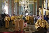 В день памяти святых апостолов Петра и Павла Святейший Патриарх Кирилл совершил Божественную литургию в Петропавловском соборе Санкт-Петербурга
