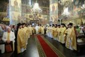 В день памяти свт. Московского Филиппа Святейший Патриарх Кирилл совершил Литургию в Успенском соборе Кремля