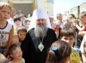 По благословению Святейшего Патриарха Кирилла митрополит Саранский и Мордовский Варсонофий посетил одесский центр реабилитации детей-инвалидов