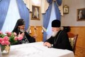 Святейший Патриарх Кирилл побеседовал с насельником одесского Успенского монастыря схиархимандритом Ионой (Игнатенко)