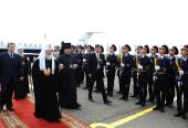 В продолжение архипастырского посещения Украины Святейший Патриарх Кирилл прибыл в Днепропетровск