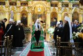 Святейший Патриарх Кирилл посетил главный храм Днепропетровской епархии