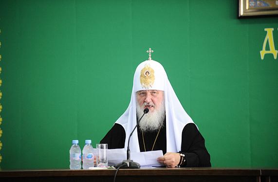 Патриарший визит на Украину. Встреча с духовенством Днепропетровской епархии.