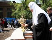 Святейший Патриарх Кирилл совершил закладку храма Воскресения Христова на территории предприятия «ЮЖМАШ»