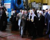 Предстоятель Русской Православной Церкви посетил производственные помещения предприятия «ЮЖМАШ»