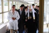 Предстоятель Русской Церкви благословил пациентов и медицинский персонал Днепропетровской областной больницы имени И.И. Мечникова