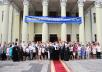 Патриарший визит на Украину. Встреча с преподавателями и учащимися Днепропетровского национального университета имени Олеся Гончара.