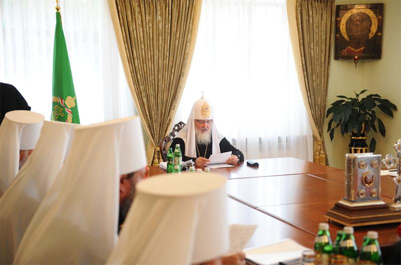 Патриарший визит на Украину. Заседание Священного Синода Русской Православной Церкви в Киево-Печерской лавре.