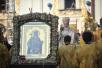 Патриарший визит на Украину. Всенощное бдение в Успенской Киево-Печерской лавре.