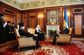 Патриарший визит на Украину. Встреча с Председателем Верховной Рады Украины В.М. Литвиным.