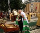 Святейший Патриарх Кирилл и Блаженнейший митрополит Владимир возглавили служение Божественной литургии в Успенской Киево-Печерской лавре