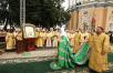 Патриарший визит на Украину. Божественная литургия в Успенской Киево-Печерской лавре в День Крещения Руси.