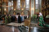 Святейший Патриарх Кирилл совершил всенощное бдение в Троицком соборе Серафимо-Дивеевского монастыря
