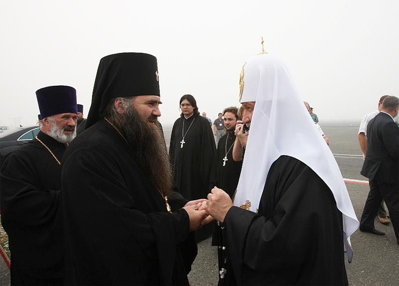 Первосвятительский визит в Нижегородскую епархию. Проводы в аэропорту Нижнего Новгорода.