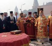 На Красной площади Москвы торжественно отпраздновали день пророка Божия Илии