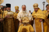 Святейший Патриарх Кирилл совершил чин великого освящения Покровского храма в городе Лукоянов Нижегородской области