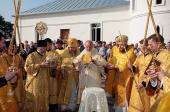 Предстоятель Русской Православной Церкви совершил великое освящение храма во имя Живоначальной Троицы в Стефано-Махрищском женском монастыре