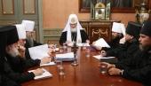 Святейший Патриарх Кирилл возглавил первое заседание руководителей Синодальных учреждений Русской Православной Церкви