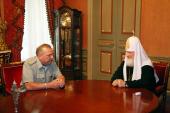 Предстоятель Русской Церкви встретился с командующим ВДВ генерал-лейтенантом В.А. Шамановым