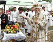 Блаженнейший митрополит Киевский и всея Украины Владимир совершил Литургию в Киево-Печерской лавре