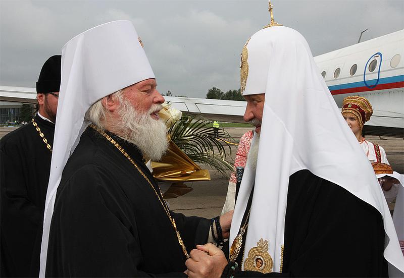 Встреча Патриарха Кирилла митрополитом Евсевием