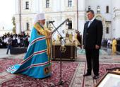В День независимости Украины Блаженнейший митрополит Владимир совершил молебен в Киево-Печерской лавре