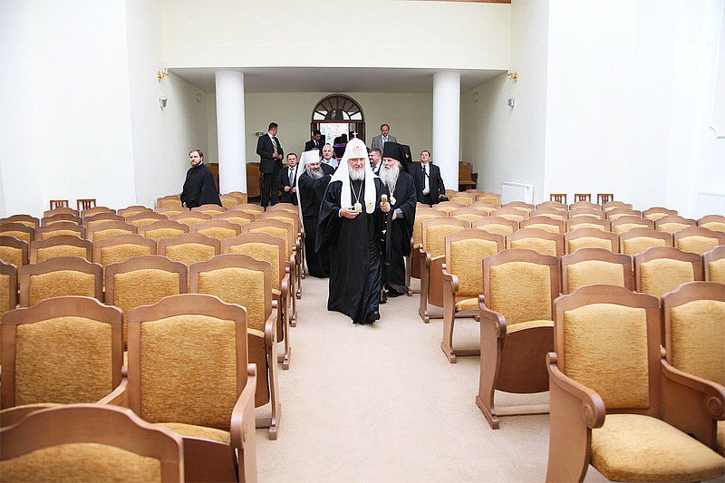 Первосвятительский визит в Липецкую епархию. Посещение Липецкого епархиального управления