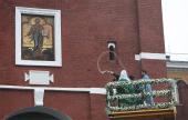 Святейший Патриарх Кирилл освятил отреставрированную надвратную икону Спасителя на Спасской башне Московского Кремля