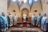 В праздник Успения Пресвятой Богородицы Предстоятель Русской Церкви совершил Божественную литургию в Успенском соборе Московского Кремля