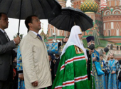 Выступление Президента России Д.А. Медведева на церемонии открытия надвратной иконы на Спасской башне Кремля