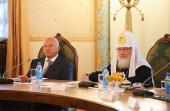 Святейший Патриарх Кирилл и мэр Москвы Ю.М. Лужков провели совещание по вопросам строительства в российской столице 200 новых храмов