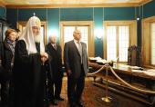 Святейший Патриарх Кирилл принял участие в открытии воссозданного дворца Алексея Михайловича в Коломенском