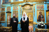 Предстоятель Русской Церкви посетил храм в честь иконы Божией Матери «Живоносный Источник» в Царицыно