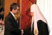 Святейший Патриарх Кирилл встретился с Чрезвычайным и Полномочным Послом Республики Чили в Российской Федерации