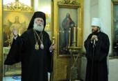 Патриарх Александрийский Феодор посетил храм во имя иконы «Всех скорбящих Радость» на Большой Ордынке