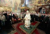 В день памяти святителя Петра, митрополита Московского, Святейший Патриарх Кирилл совершил Божественную литургию в Успенском соборе Московского Кремля