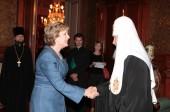 Состоялась встреча Предстоятеля Русской Православной Церкви с Президентом Республики Ирландия Мэри Макэлис