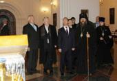 Президент России Д.А. Медведев посетил восстановленный Свято-Успенский кафедральный собор Ярославля