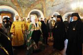 Святейший Патриарх Кирилл прибыл в Свято-Введенский Толгский женский монастырь