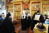 Святейший Патриарх Кирилл посетил храм Рождества Христова в селе Давыдово