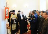 В завершение визита в Ярославскую епархию Святейший Патриарх Кирилл совершил освящение домового храма Ярославского зенитного ракетного училища