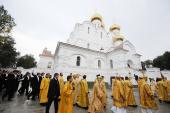 Святейший Патриарх Кирилл совершил великое освящение Свято-Успенского кафедрального собора Ярославля