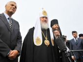 Интервью Святейшего Патриарха Кирилла в аэропорту Южно-Сахалинска