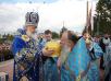 Первосвятительский визит на Дальний Восток. Божественная литургия в праздник Рождества Пресвятой Богородицы на площади Победы города Южно-Сахалинска