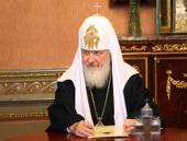 Интервью Святейшего Патриарха Кирилла телеканалу «Россия»